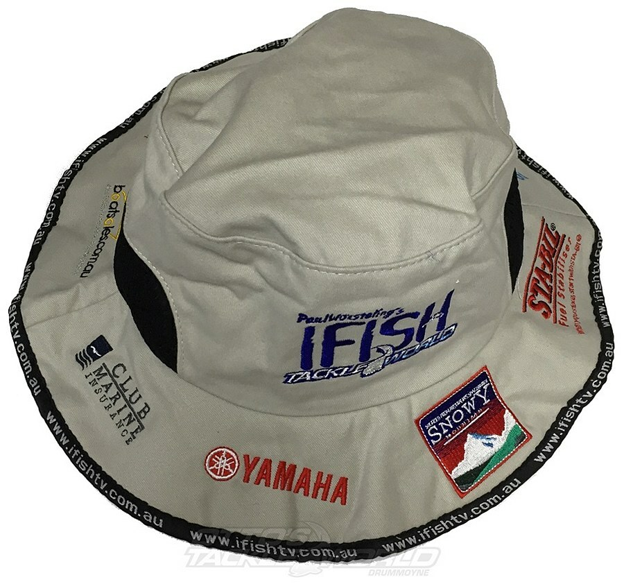 e6cf19ea107d9 IFISH w Tackleworld Sponsor Bucket Hat Beige