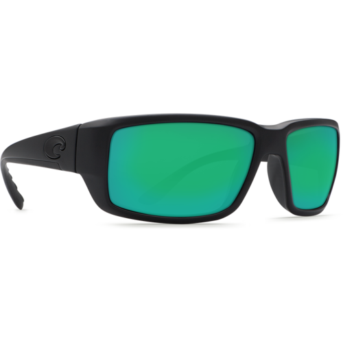 Costa Del Mar Sunglasses Fantail Black Frame Green mirror lens 580G