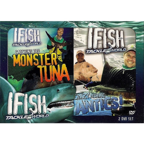 IFISH With Tackle World 2 DVD Set Monster Tuna & Crazy Fishing Antics