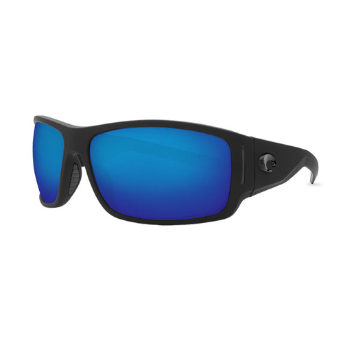 Costa Del Mar Cape Sunglasses Matte Black Ultra Blue Mirror 580p