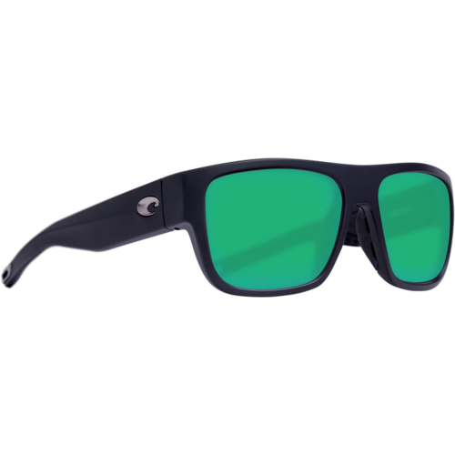 Costa del Mar Sampan Matte Black Green Mirror 580g
