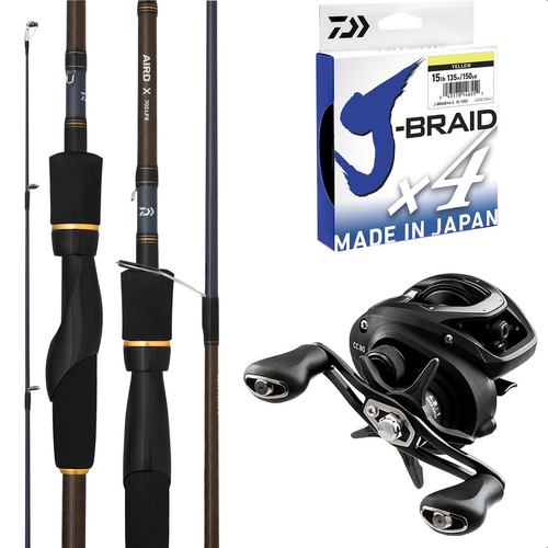 Daiwa Left hand Barra and Cod Baitcaster Combo