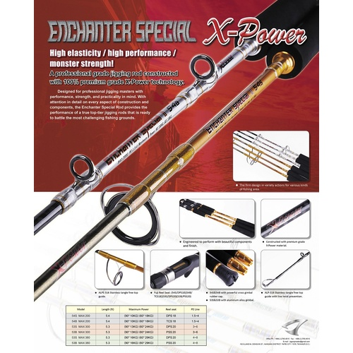 Jigging Master Enchanter Special II Overhead Jig Rod