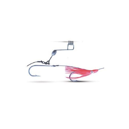 Saltwater Sport Wire Trace Hood and Weighted Slider Two Hook Rig