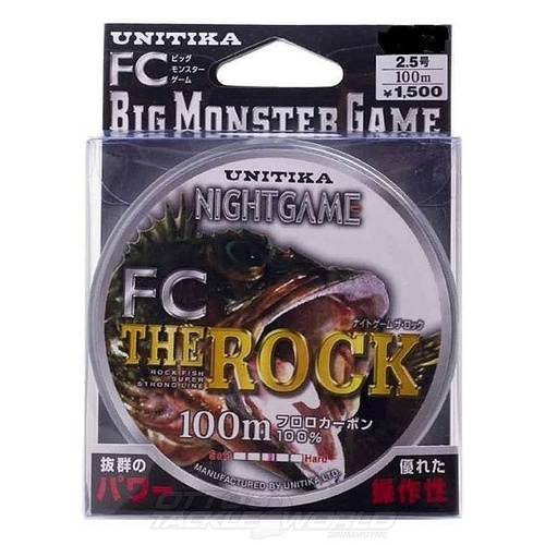 Unitika Night Game FC The Rock Fluorocarbon Main Fishing line