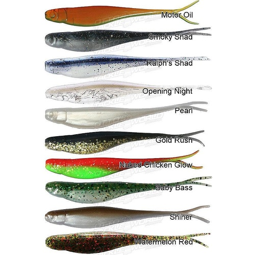 "ZMan StreakZ 3.75"" Jerk BaitZ Soft Plastic Fishing Lures"
