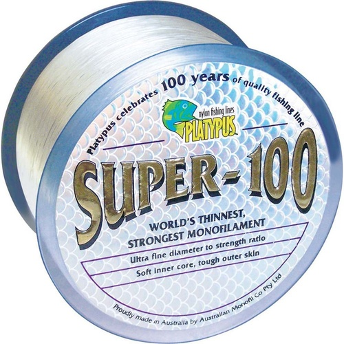 Platypus Super-100 Clear 300m Mono Fishing Line